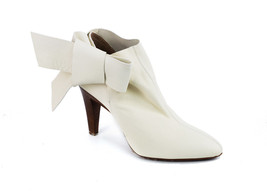 Roberto Cavalli Women's Cream Bow Ankle Boots Size 35/5~RTL$750~NWT~NIB - $237.50