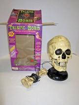 VTG 1998 TALKING BORIS SKULL Voice Synthesizer Box Halloween Prop WORKS!... - $79.99
