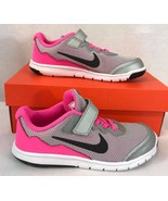 Nike flex Experience RN 4 young running athletic shoes gray pink - $43.36