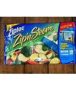 Ziploc Zip N Steam Cooking Microwave Bags 10 Medium Ziplock Meal Prep 1 ... - $8.91