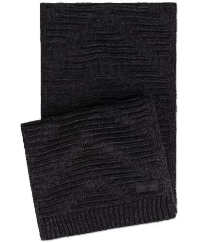Primary image for Calvin Klein Women's Knit Textured Rectangle Scarf (Black)
