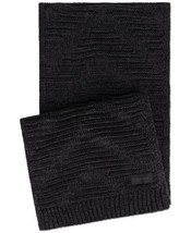 Calvin Klein Women's Knit Textured Rectangle Scarf (Black) - $40.67