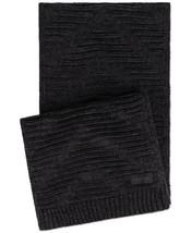 Calvin Klein Women's Knit Textured Rectangle Scarf (Black) - $26.61