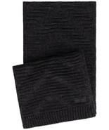 Calvin Klein Women's Knit Textured Rectangle Scarf (Black) - $40.67