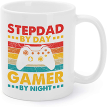 Step-dad by Day Gamer by night Coffee Mug Fathers day - $16.95