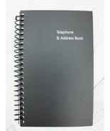 Pen+Gear 128 page Telephone & Address Spiral Book Black LARGE PRINT - $6.52