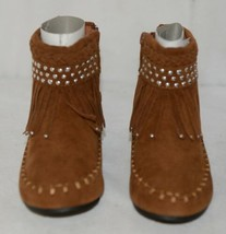 I Love Yo Kids AVA 78K Girls Fringe Boot Rust Silver Studded Size 11 image 2