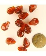 Faceted Glass Teardrop Drop Beads 10x13mm  12 Beads - $1.99
