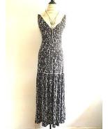 Banana Republic Dark Brown and White Print Cotton Patio Dress XSus - $24.99