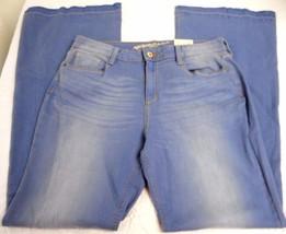Women's Juniors Arizona Jeans Wide Leg Retro Sky Size 11 Released Hem NEW - $26.72