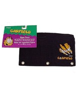 Garfield PAWS Black Nylon Mead Zipper Pencil Pouch Kids Back to School S... - $8.95