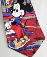 Mickey Mouse Tie Necktie Disney Mickey Unlimited Pineknot Motel Red 100% Silk - $10.93
