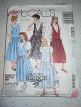 Easy McCall's Misses Size 6-10 Jumpers & Pettticoat Pattern #4350 Uncut  - $4.99