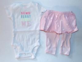 Carter's Infant Girls 2pc Bodysuit and Skirt Leggings Set Some Bunny Size NB NWT - $11.69