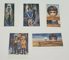 Vtg Walter Keane Big Eyes Girl Postcard Lot of 5 1961-63 Runaway Watchin... - $29.02