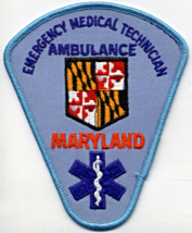 "Maryland Ambulance Emergency Medical Technicial 4 7/8"" NOS Embroidered P... - $4.00"