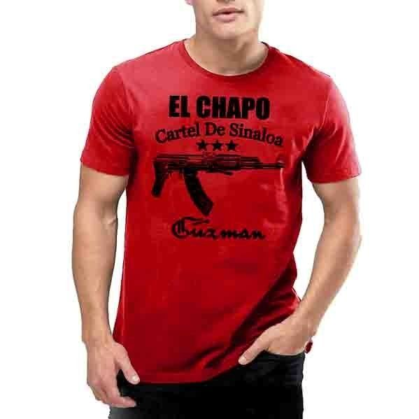 El chapo guzman t shirt sinaloa cartel mexico mexican drug for Chapo guzman shirt brand