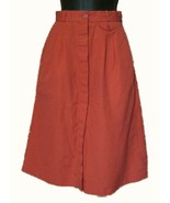 RED A LINE Midi SKIRT Pleated Waist size 3 WEEKEND EDITION very small VTG - $19.77