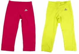 Girl's 7-16 adidas Tights Pants TechFit 3/4 Length Stretch Pant NEW - $9.18