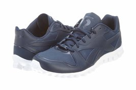 Reebok Mens Classic RealFlex Runner Athletic Navy/White Synthetic-And-Me... - $95.35