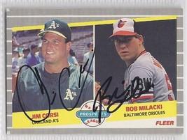 Bob Milacki Jim Corsi Dual Signed Autographed Card 1989 Fleer Rookie - $9.50