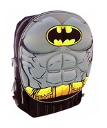 "BATMAN DC COMICS 16"" Full-Size Molded Backpack w/ Optional Insulated Lun... - $21.77+"