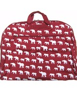Elephant Print Garment Bag Travel Luggage Alaba... - $26.99