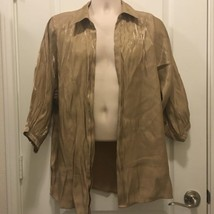 Chico's Size 2 Tan and Golden Coverlet - $14.96