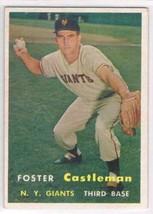 1957 Topps #237 Foster Castleman  New York Giants  - $11.87