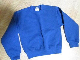 JERZEES BOYS SWEAT SHIRT SIZE S  6-8  BLUE NWT - $14.30 CAD