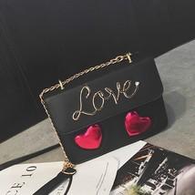 2018 Love Heart Small Handbag Women Flap Cross Body Bag Fashion Messenge... - $34.99