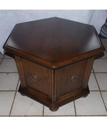 Mid Century Ethan Allen Hexagon End Table / Side Table  (RP) - $399.00