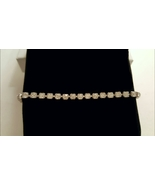 Single Strand Vintage Clear Crystal Rhinestone Bracelet  - $0.00