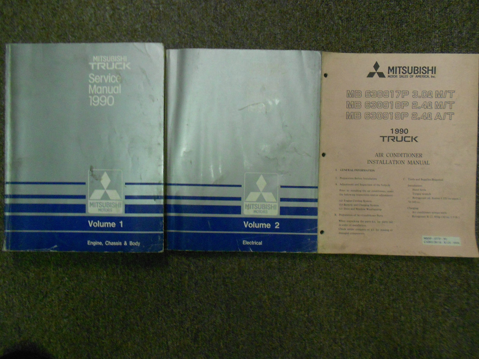 1990 MITSUBISHI Truck Service Repair Shop Manual 3 VOLUME SET FACTORY OEM 2  VOL