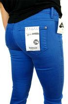 Kensie Jeans Women's Premium Skinny Slim Fit Ankle Biter Pants Blue Stone image 5