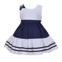New Baby Girls Cotton Party Dress Blue Red 3 6 9 12 18 Months - $13.38