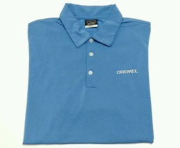 DREMEL Tool Nike Golf Dri Fit Blue Men's Textured Polo SIZE LARGE Handyman - $17.75