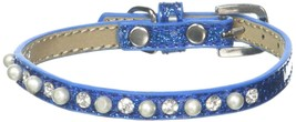 Mirage Pet Products Pearl and Jewel Ice Cream Collar, 12-Inch, Blue - $16.48