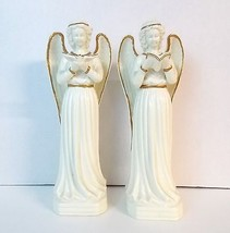 Porcelain Angels Figurine Pair Lot of 2 Tableto... - $18.99