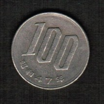 JAPAN 100 YEN 1972 (SHOWA 47) (Y # 82)  #4801 - $3.47