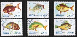 OMAN 1972 FISH SET VF USED  (386824849) - $2.48