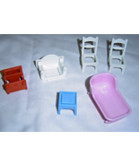 Lot of Mini Doll House Furniture 6 Pieces - $14.99