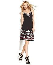 inc international concepts dress embroidered black sz PL - $42.56