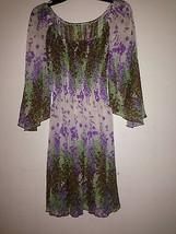 women dress sz XS smocked waist angel sleeve - $19.78