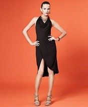 Macys Neon women Skirt wrap Mini black sz S fits M - £16.22 GBP