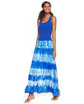 INC International Concepts Dress Skirt Convertible Tie-Dye PM PL PXL blue - $35.99
