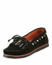 COACH Roccasin Studded Moccasin Shearling Lined Flower, T-Rex Charms sz ... - $57.86