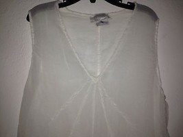 Ghost women top blouse sleeveless sz S creme sheer elegant - $29.99