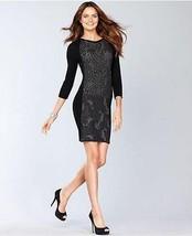 INC International Concepts Sweater Dress Metallic Black Sz PL - $38.60