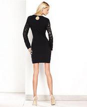 INC International Concepts Dress Bell Sleeve Crochet Bodycon black PP fi... - $54.99